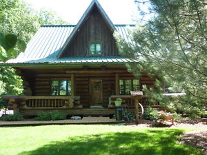 LOG HOUSE IN COUNTRY
