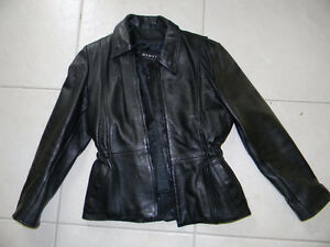 **ON SALE** Womens Leather Motorcycle Jacket Black Dimitri  S/M