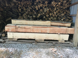 fire place pine mantels and Live edge wood