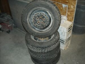 GOODYEAR NORDIC SNOW TIRE AND RIMS