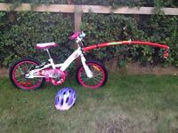 Trail gator attachment and bike with helmet