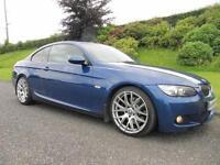 2007 BMW 335d M-SPORT COUPE **LE-MANS**AUTO**FULL BLACK LEATHER**