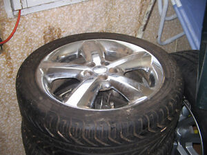 Chrome rims and tires