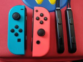 Nintendo switch joycons including straps