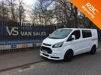 2014 64 FORD TRANSIT CUSTOM 2.2 290 LR DCB 6 SEAT FACTORY CREW VAN RS STYLING PA