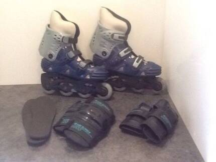 Near New Roller Blades with Knee & Wrist Guards Montrose Yarra Ranges Preview