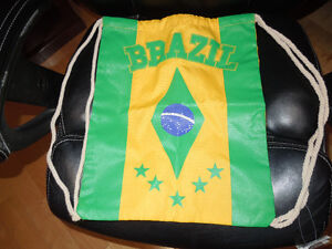 "Brand New With Tags- Drawstring Backpack ""Brazil"""