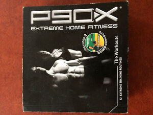 P90X DVD set and pull up bar