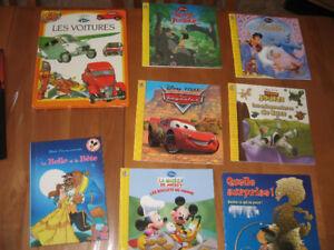 Lots de 8 livres de Walt Disney pour enfants