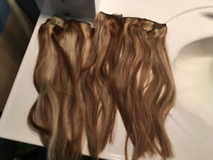 Blonde / Brown Mix Clip In Hair Extensions