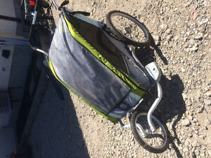 Barely used Cougar Chariot 2 with infant insert and bike attach