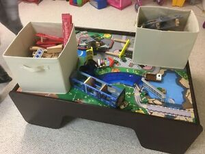Train table with two bins of miscellaneous pieces/tracks. Kingston Kingston Area image 1