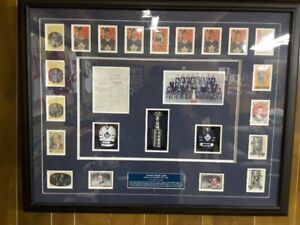 1962 TORONTO MAPLE LEAFS STANLEY CUP CARD AND AUTOGRAPH COLLECT
