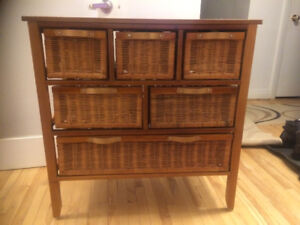 Wicker chests with drawers, very good condition