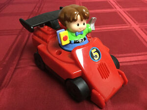 Fisher Price Motorized Race Car & Driver