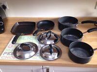 Circulon saucepan griddle and frying pan set