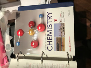 Chemistry, Physics, and Biology textbooks