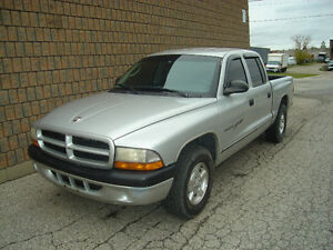 2001 DODGE DAKOTA QUAD CAB..SAFETIED & E-TEST