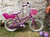 "Girls Disney Princess Bike 14"""