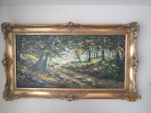 Very nice old large Antique Oil on Canvas LOOK