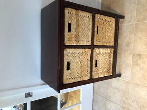 Kitchen 4 drawer wicker cabinet