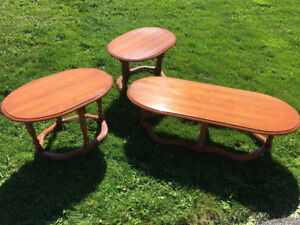 3 piece coffee and end tables