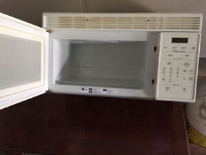 Over the oven microwave