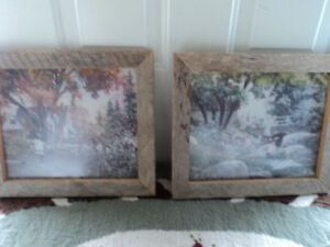 Two Shabby Chic Wooden Frames