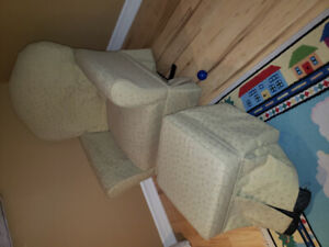 Dutailier Matching rocking chair and foot stool - $275