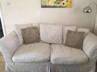 3 seat sofa, loose machine washable covers.