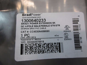 Woodhead Extension cable - CC4030A48M080 M/MFE P/N: 1300640233 Kitchener / Waterloo Kitchener Area image 4