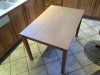 Stylish & Modern Light Oak Effect Kitchen/Breakfast Table