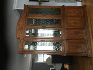 Buffet Hutch - Canadian made, all wood/glass.