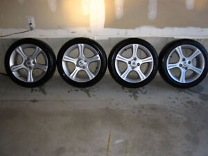 Nissan 17 inch wheels and tires