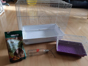 Small Animal Cage and Extras