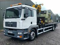 MAN TG-M 18.280 Hiab crane lorry platform