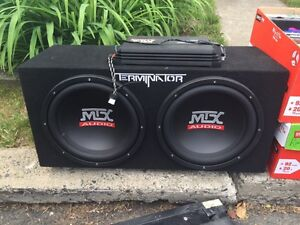 SUBOOFER MTX AUDIO 300 WATTS + AMPLIFICATEUR