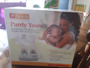 Ameda purely your double electric breast pump.