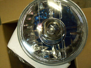"PAIR 7"" Projector Clear Lens Headlights Round w/ H4"