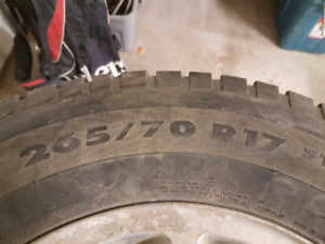 Winter Tires used. 265/70 R17 with rims