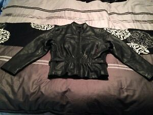Leather riding jacket woman's XL