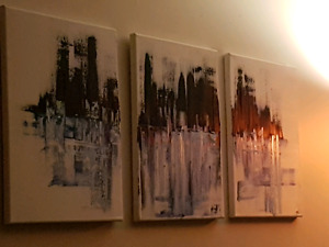 Blue abstract painting $75