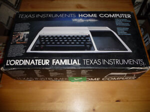 Vintage Texas Instruments TI-99/4a Computer System in Original B