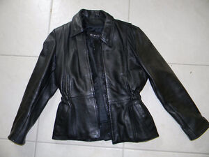 Ladies Dimitri leather motorcycle jacket - size small