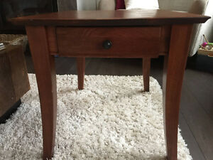 Solid Cherry Wood Set of End Tables