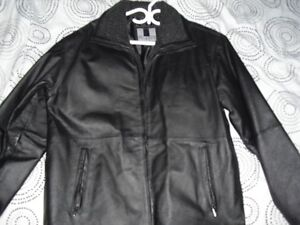 Mens Black Leather Jacket (L)