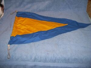 Vintage cotton Flag Pennant First Substitute