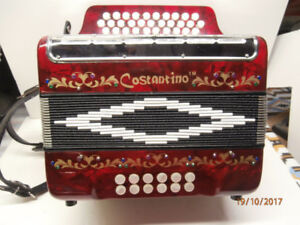 Costantino organetto button accordion 12 bass 3 rows G/C/F