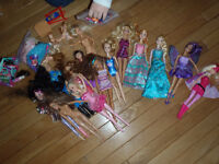 Barbies, clothing and accessories