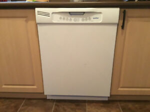 "White Built-in Moffat Dishwasher 23 3/4"" by 34"""